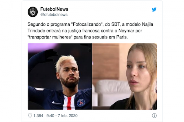 Acusan a Neymar de participar en una red de prostitución internacional