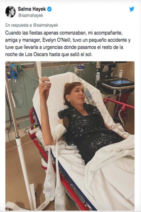 Salma Hayek termina en el Hospital Tras fiesta de los Oscar