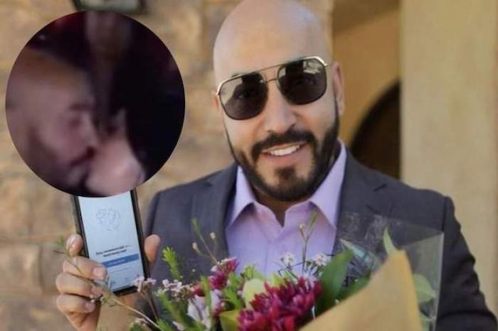 Lupillo Rivera es sorprendido besándose con una mujer misteriosa