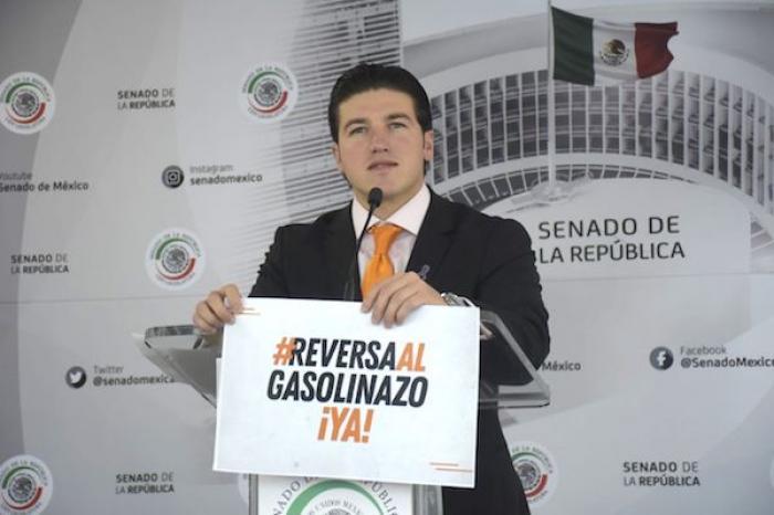 Senador Samuel García pide comparecencia de Hacienda y Energía por gasolinazo