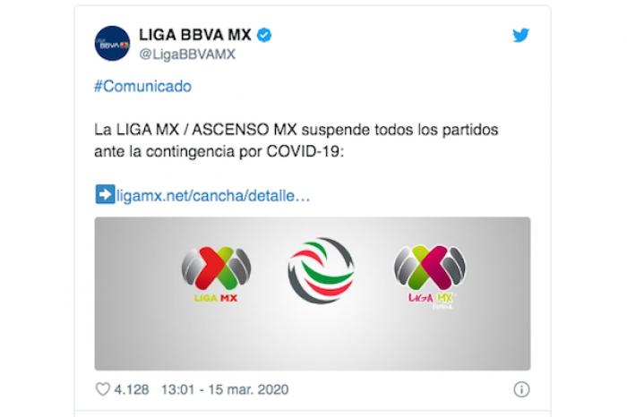 Deciden suspenderla Liga MX ante emergencia por coronavirus