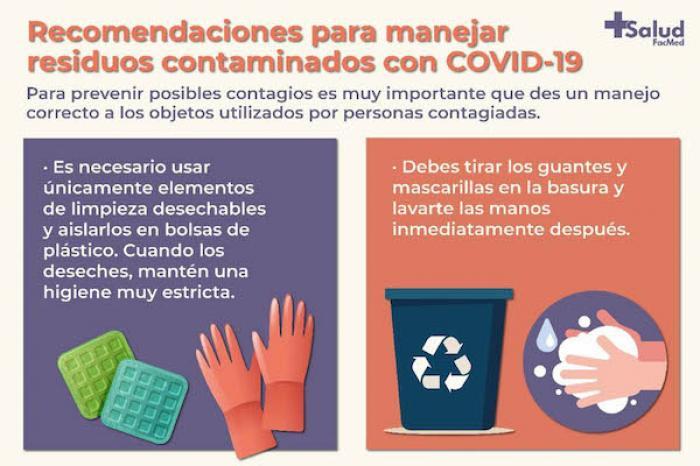 Recomiendan especialistas de la Facultad de Medicina cuidados, limpieza y manejo de residuos en casa