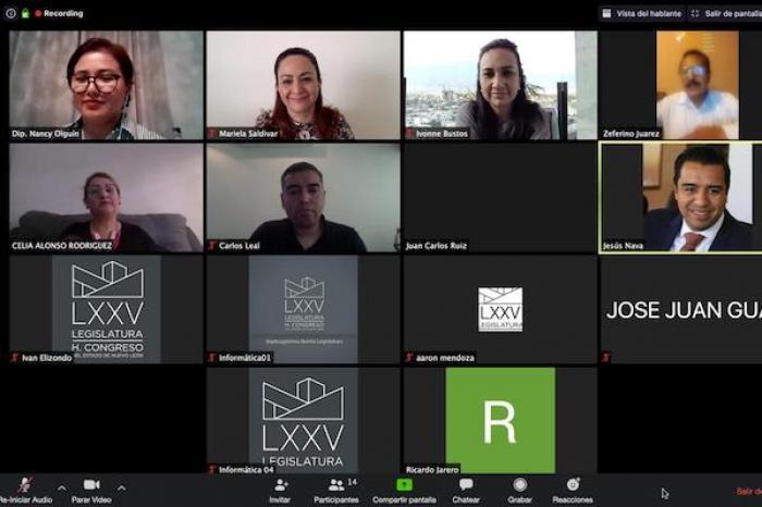 Aplaude Mariela primera sesión virtual de comisiones