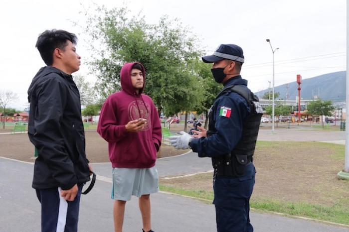Refuerza Policía De Escobedo Operativo #Quédateencasa
