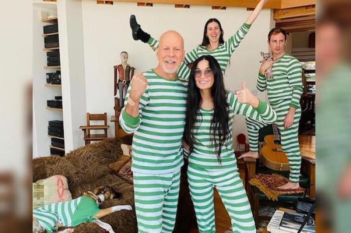 Bruce Willis y Demi Moore pasan cuarentena juntos en pijama
