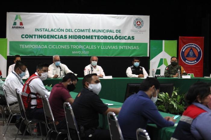Instala Apodaca comité preventivo ante temporada de lluvias